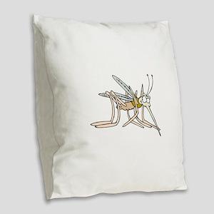 Mosquito bite Burlap Throw Pillow