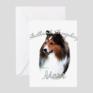 Sheltie Mom2 Greeting Card