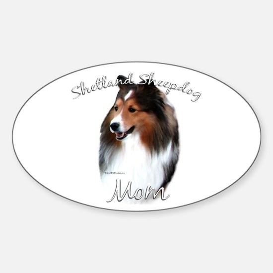 Sheltie Mom2 Oval Decal