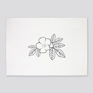 rosa acicularis 5'x7'Area Rug