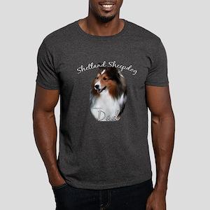 Sheltie Dad2 Dark T-Shirt