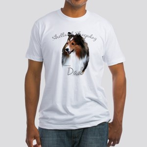 Sheltie Dad2 Fitted T-Shirt