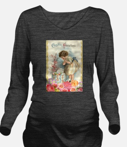 victorian easter Long Sleeve Maternity T-Shirt