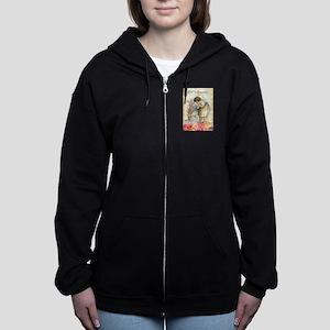 victorian easter Women's Zip Hoodie