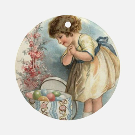 victorian easter Round Ornament