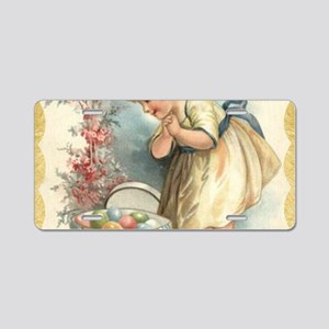victorian easter Aluminum License Plate