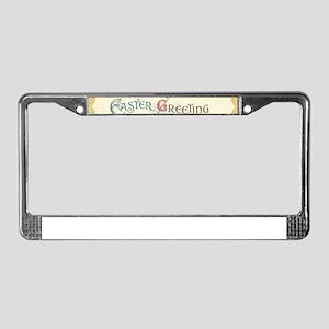 victorian easter License Plate Frame