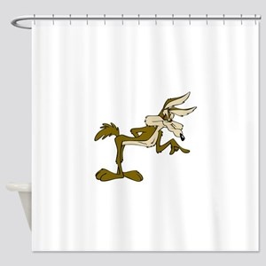Road Runner Fox Cartoon Shower Curtain