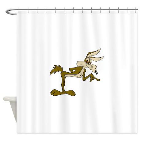 Road Runner Fox Cartoon Shower Curtain