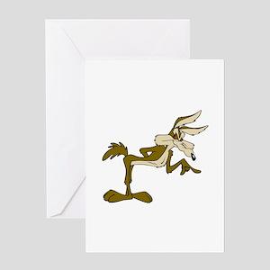 Road Runner Fox cartoon Greeting Cards
