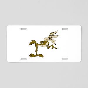 Road Runner Fox cartoon Aluminum License Plate