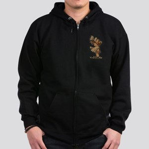 antique easter Zip Hoodie (dark)