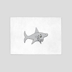 Shark with sharp teeth 5'x7'Area Rug