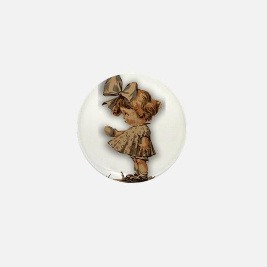 antique easter Mini Button