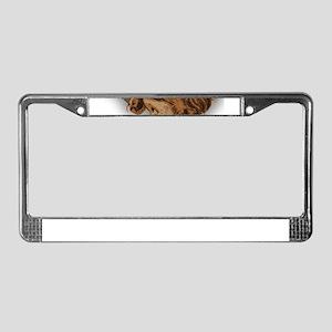 antique easter License Plate Frame
