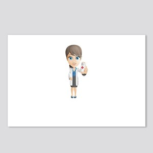 Cartoon Female Doctor Cha Postcards (Package of 8)
