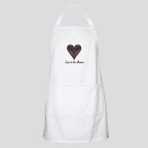 Love is the Answer Fabric Heart Apron