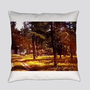 vintage fall grove evergreens Everyday Pillow