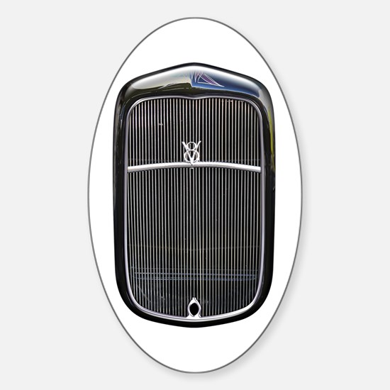 Grill-Black Oval Decal