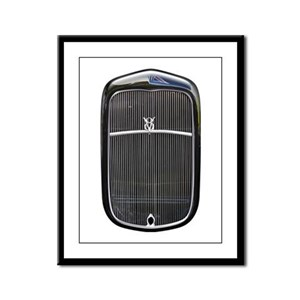 Grill-Black Framed Panel Print