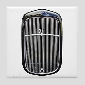 Grill-Black Tile Coaster