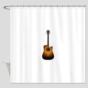 Unplugged guitar Shower Curtain