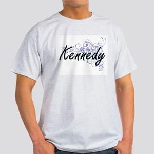 Kennedy surname artistic design with Flowe T-Shirt