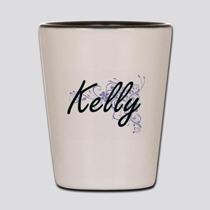 Kelly surname artistic design with Flow Shot Glass