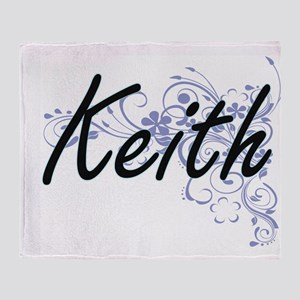 Keith surname artistic design with F Throw Blanket
