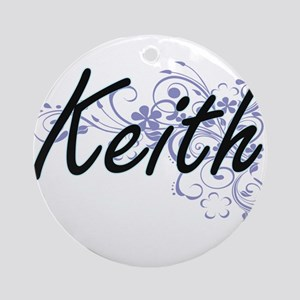Keith surname artistic design with Round Ornament