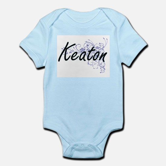 Keaton surname artistic design with Flow Body Suit