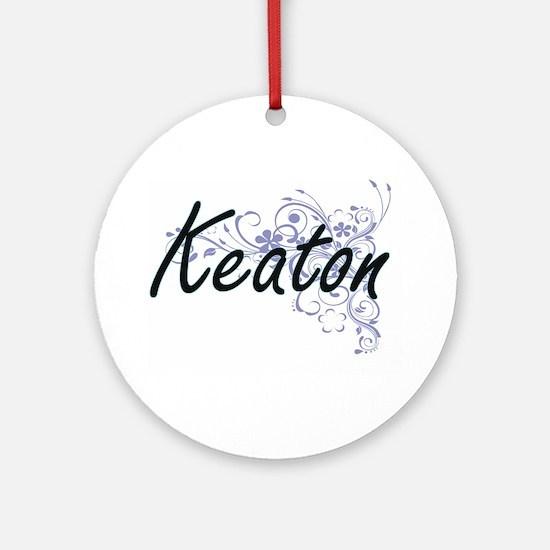 Keaton surname artistic design with Round Ornament