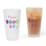 Personalized Spring Flowers Drinking Glass