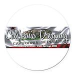 California Dreaming Round Car Magnet
