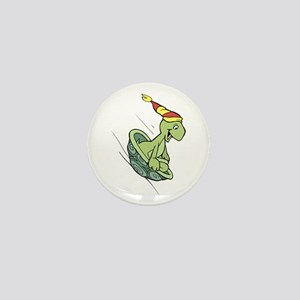 Turtle Riding in Shell Mini Button