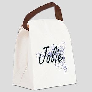 Jolie surname artistic design wit Canvas Lunch Bag
