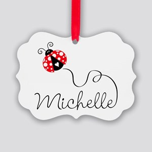Ladybug Michelle Picture Ornament
