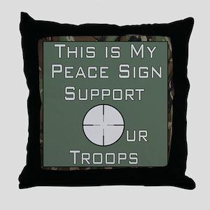 MY Peace Sign..... Throw Pillow