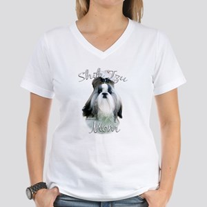 Shih Tzu Mom2 Women's V-Neck T-Shirt