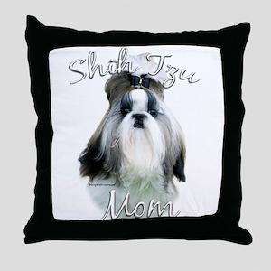 Shih Tzu Mom2 Throw Pillow
