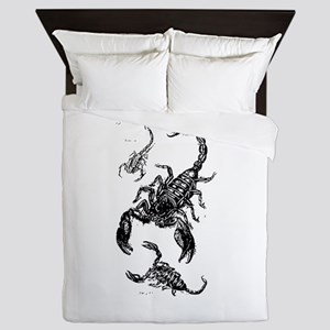 Black Scorpions Queen Duvet