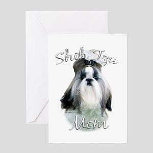 Shih Tzu Mom2 Greeting Card