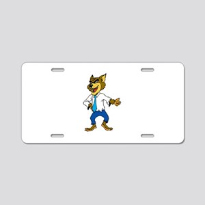 Werewolf with formal dress Aluminum License Plate