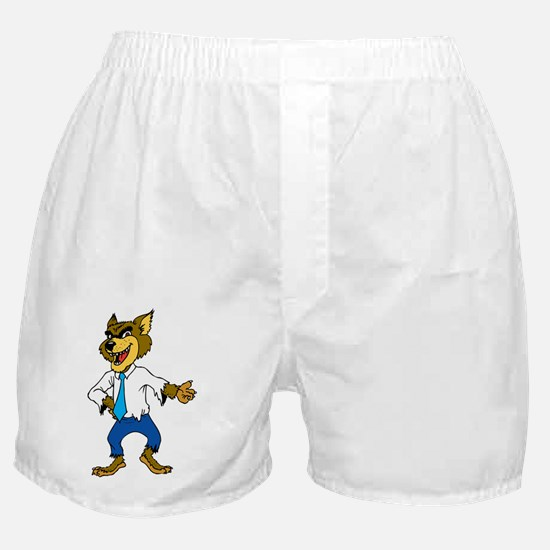 Werewolf with formal dress Boxer Shorts