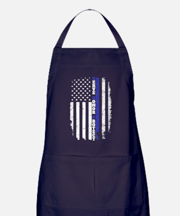 Unique The thin blue line Apron (dark)
