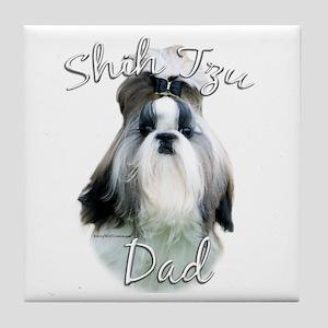 Shih Tzu Dad2 Tile Coaster