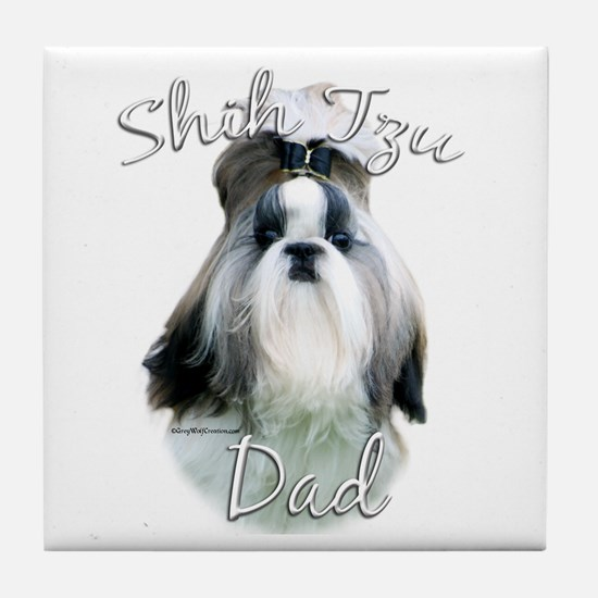 Shih Tzu Dad2 Tile Coaster