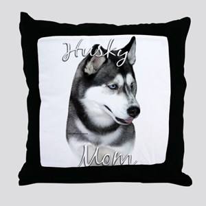 Husky Mom2 Throw Pillow