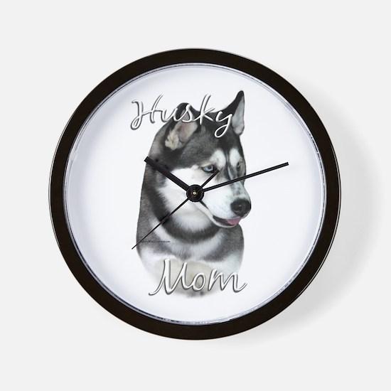 Husky Mom2 Wall Clock