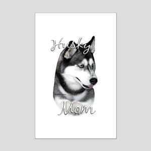 Husky Mom2 Mini Poster Print